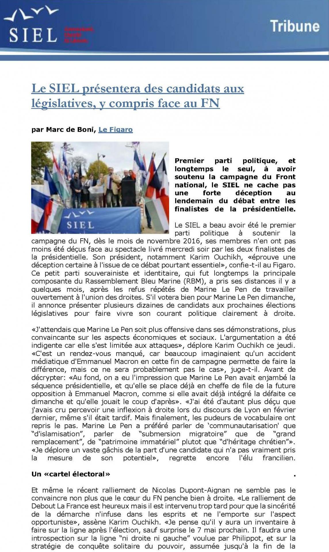 Legislatives du siel page 1